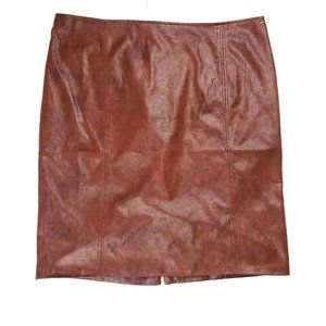Chico's Size 3 / XL Brown Faux Leather Skirt